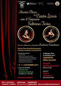 Master Class canto lirico Scuola Famous